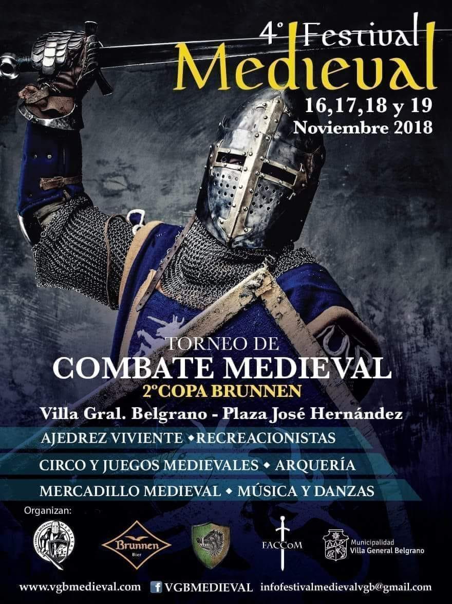 Se suspende por razones climáticas el 4º Festival Medieval en Villa General Belgrano