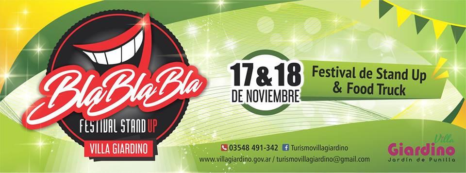 Nuevo Festival de Stand Up y Food Trucks en Villa Giardino
