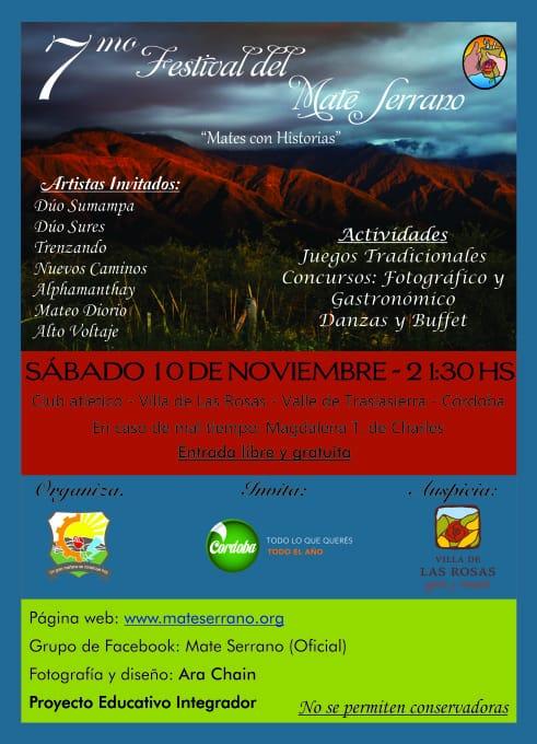 Equipo de mate listo: 7° Festival del Mate Serrano en Villa de Las Rosas