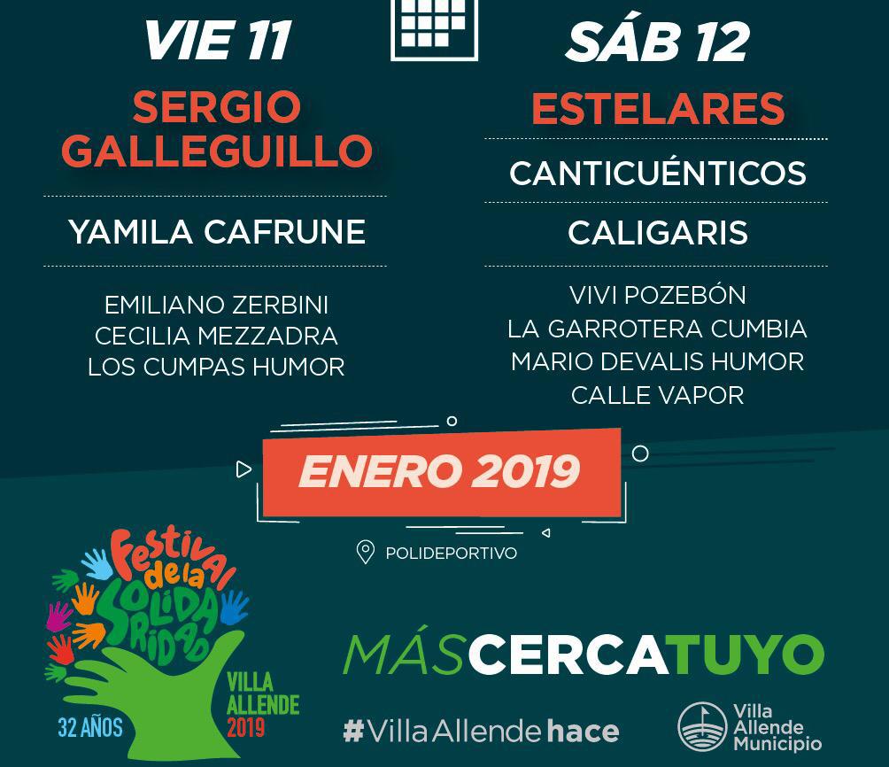 Villa Allende: El Festival de La Solidaridad cumple 32 años