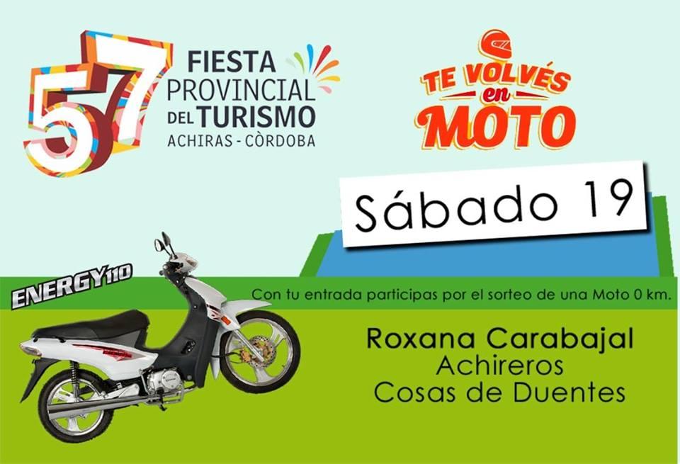 57 años cumple La Fiesta Provincial del Turismo en Achiras