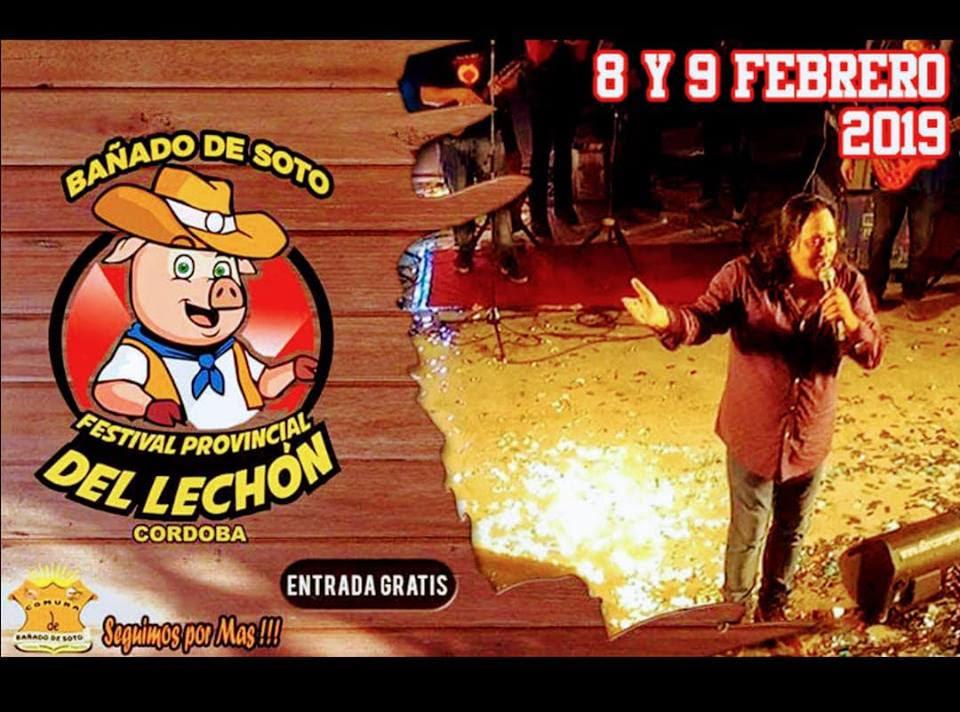 Bañado de Soto presenta el XVI Festival Provincial del Lechón