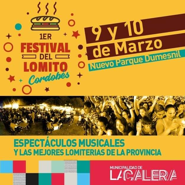 Se viene el Primer Festival del Lomito cordobés en La Calera