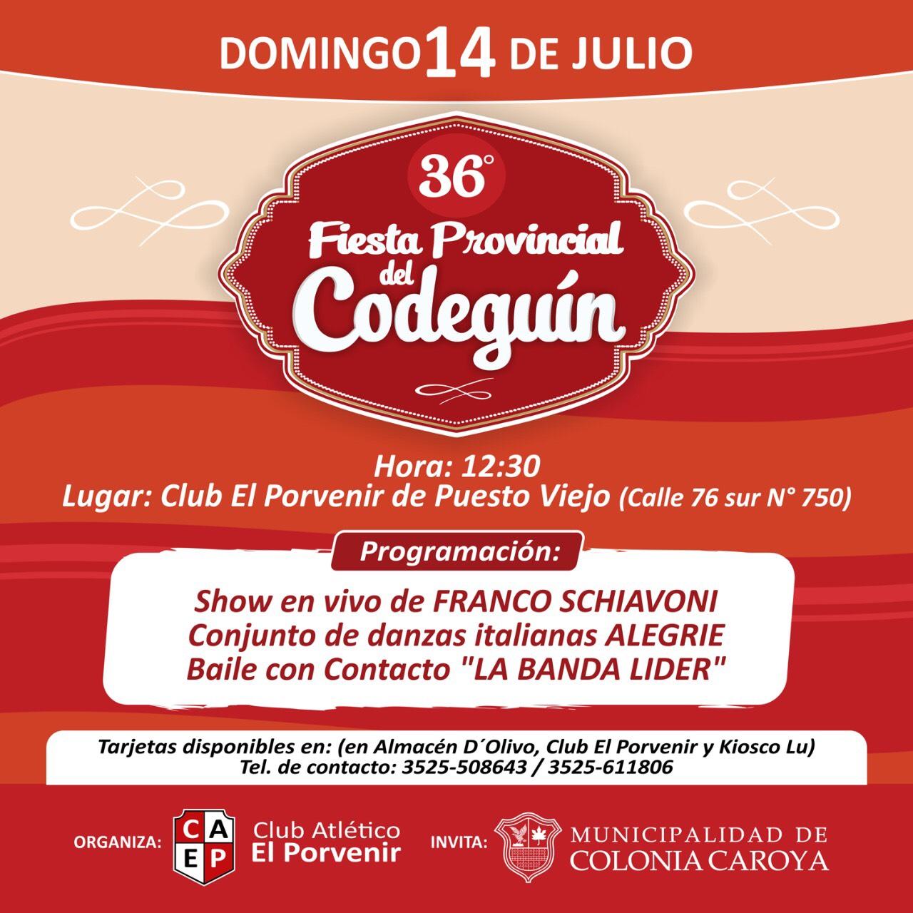 La Fiesta Provincial del Codeguín se presenta en Colonia Caroya