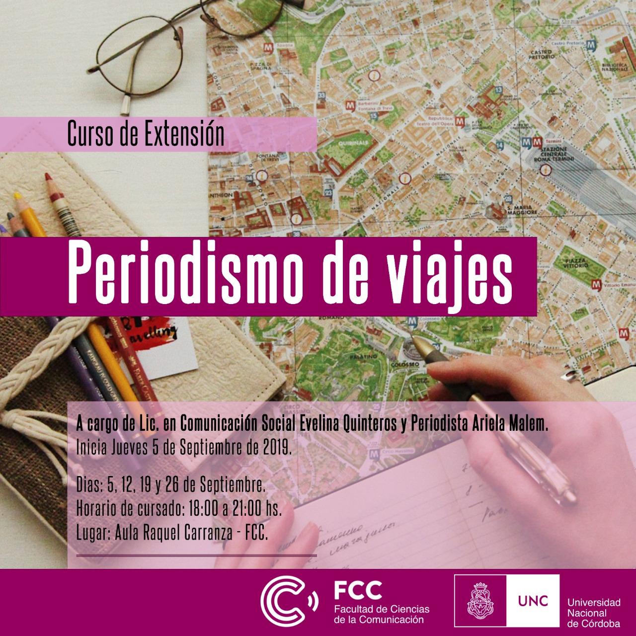 Curso de extensión: Periodismo de viajes en la UNC