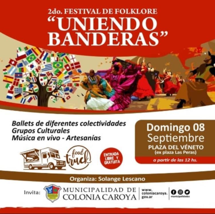 """Colonia Caroya se prepara para el Festival de Folklore: """"uniendo banderas"""""""