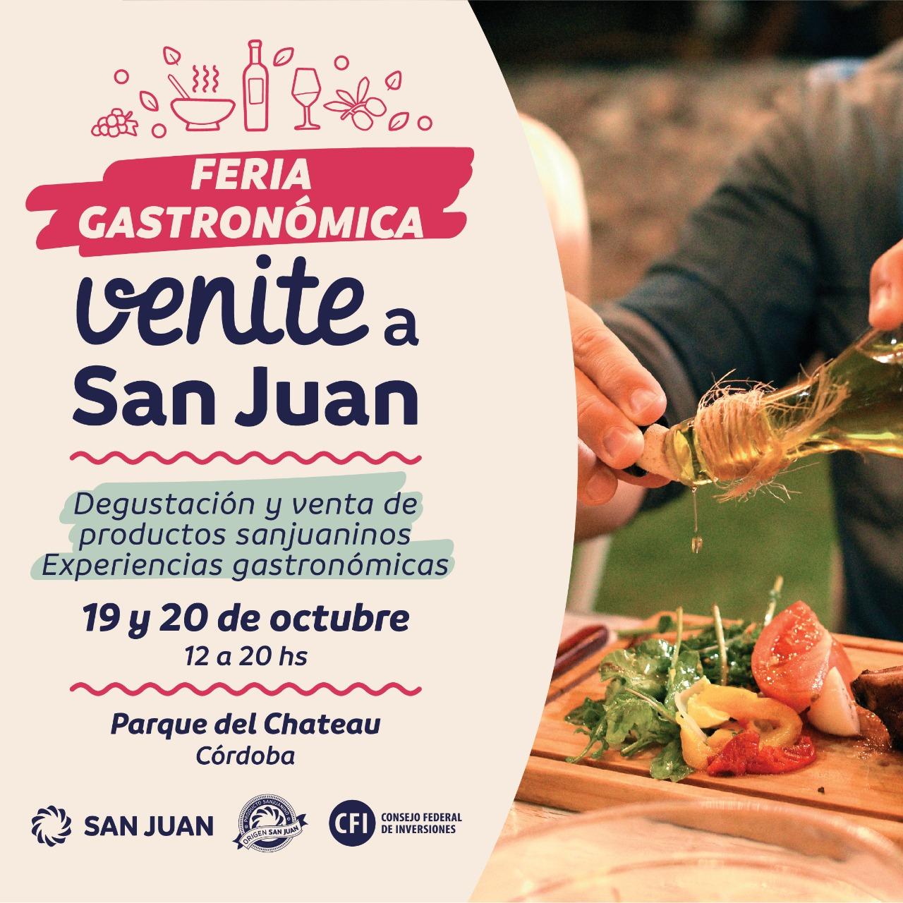"""Llega la Feria Gastronómica Productiva """"Venite a San Juan"""", al Parque del Chateau"""