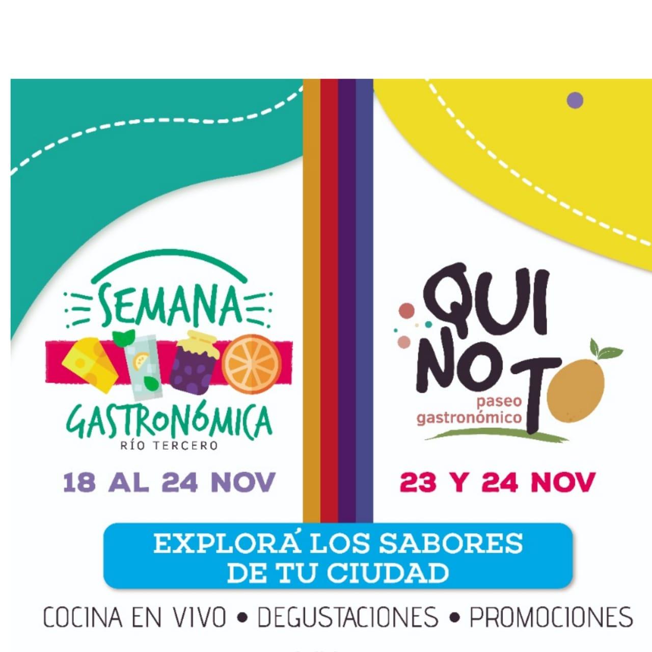 Paseo Grastronómico QUINOTO en Río Tercero