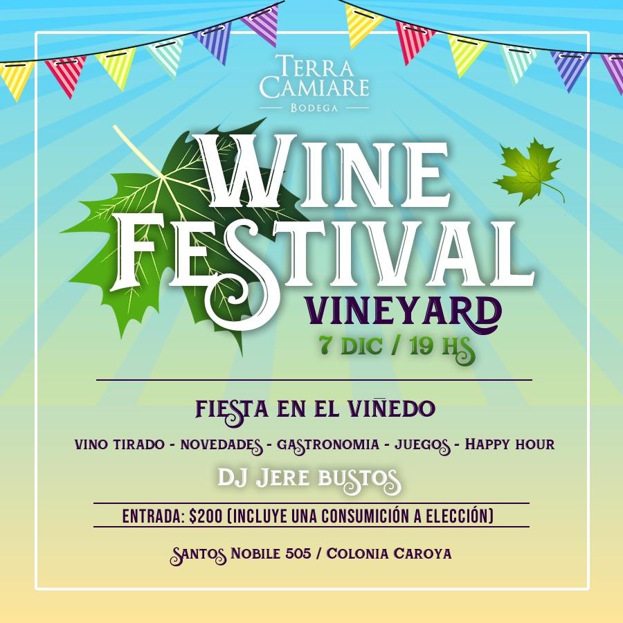 Llega la 1° Edición Winefestival en Bodega Tierra Camiare