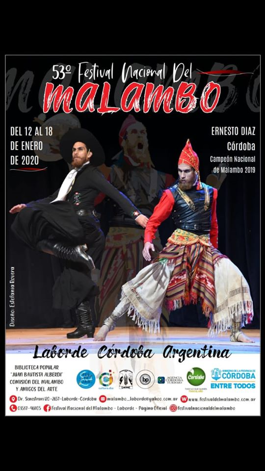 Se viene la 53° Festival Nacional del Malambo en Laborde