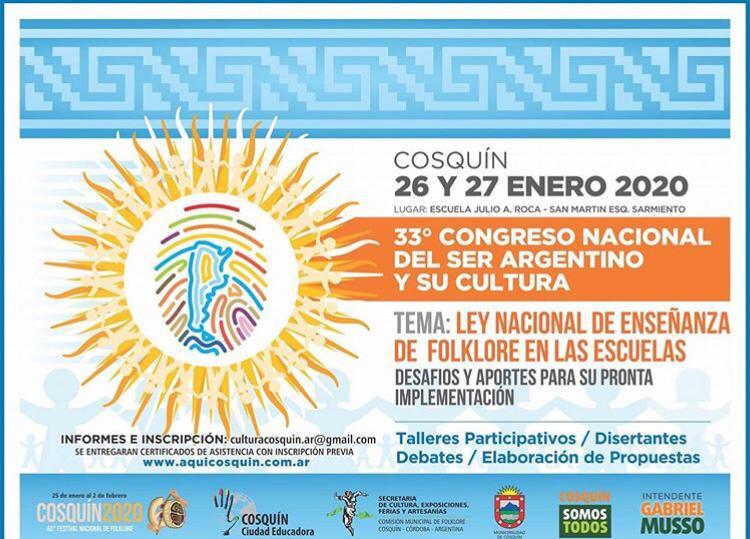 Se viene el 33° Congreso Nacional del Ser Argentino y su Cultura