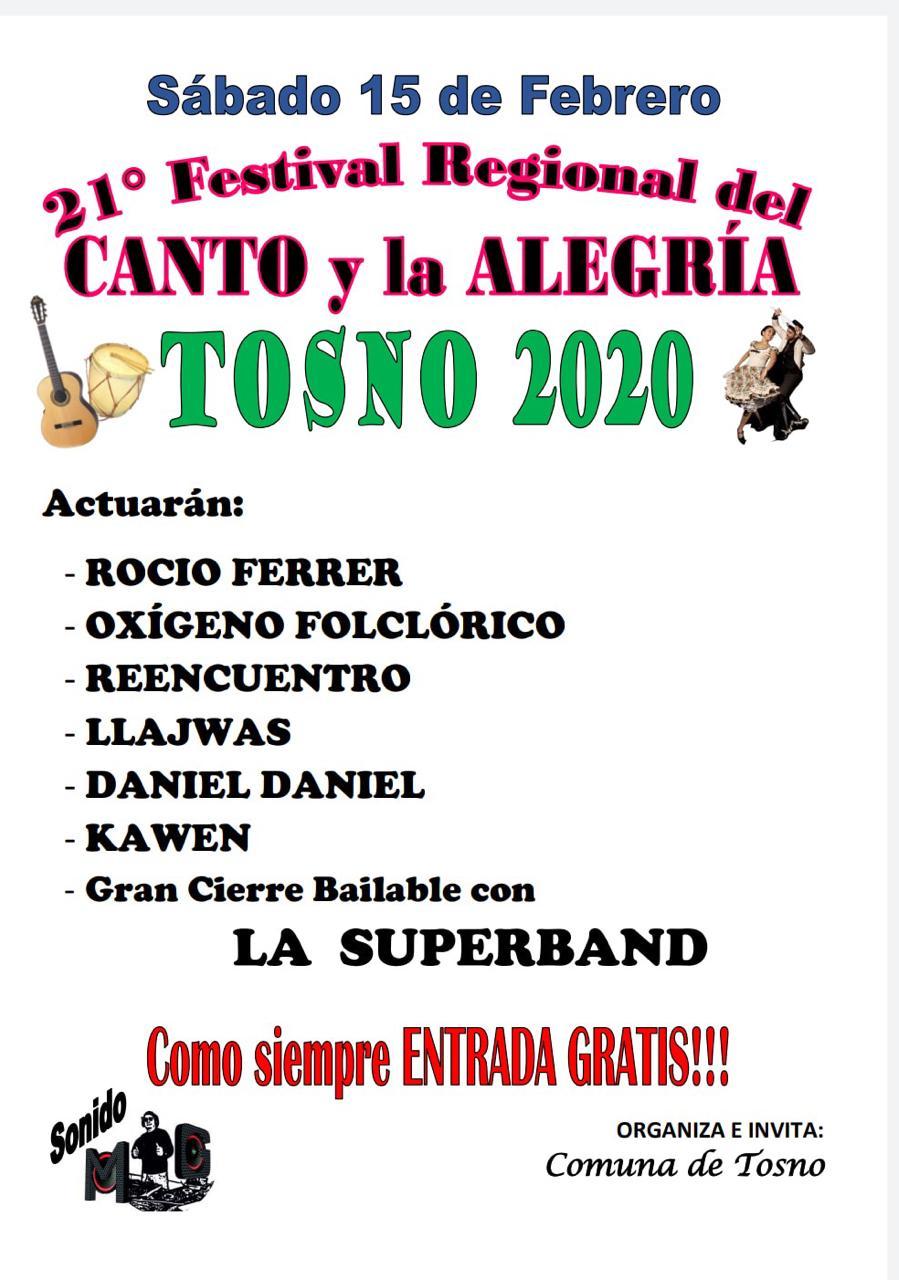 Tosno implementa la 21° edición del Festival del Canto y la Alegría
