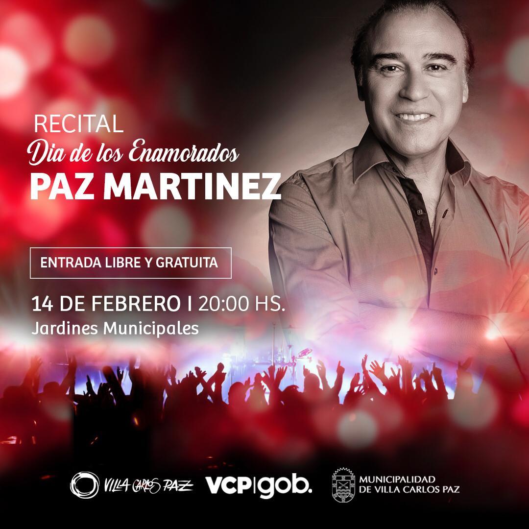 Carlos Paz festeja el día de los enamorados con un recital de Paz Martínez