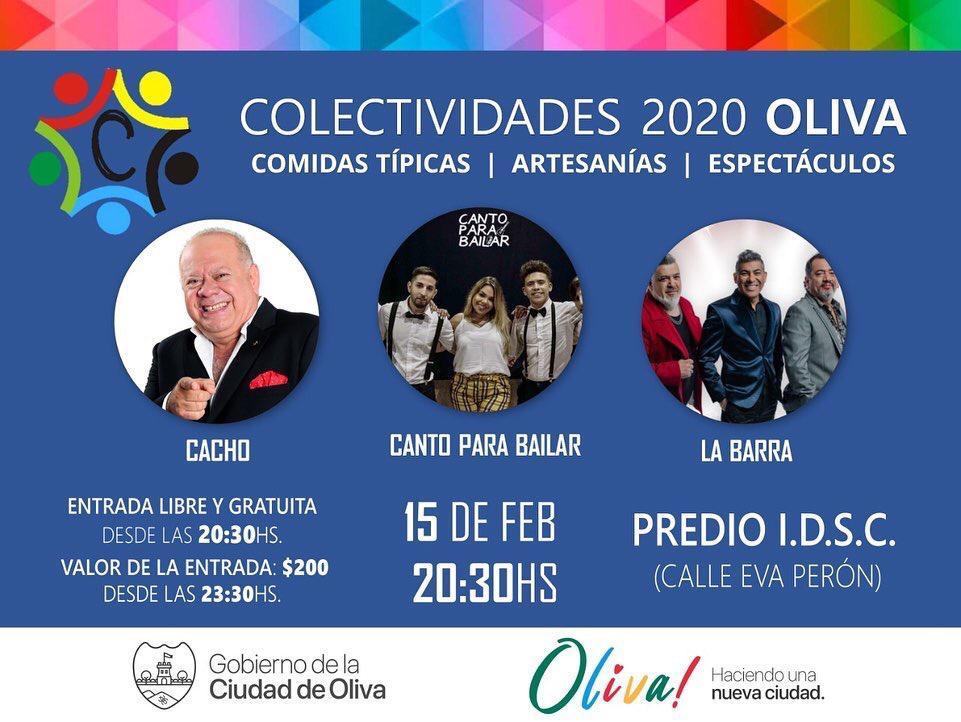 Las Colectividades de Oliva con La Barra y Cacho Buenaventura