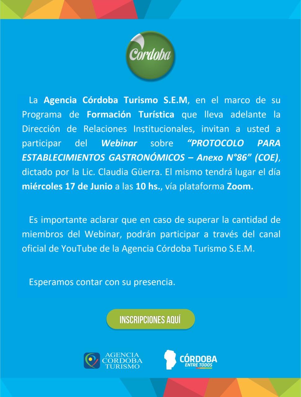 Capacitación: Protocolo para establecimientos gastronómicos