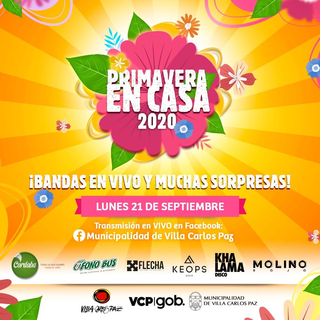 Con un gran festejo virtual, Villa Carlos Paz recibirá la primavera 2020
