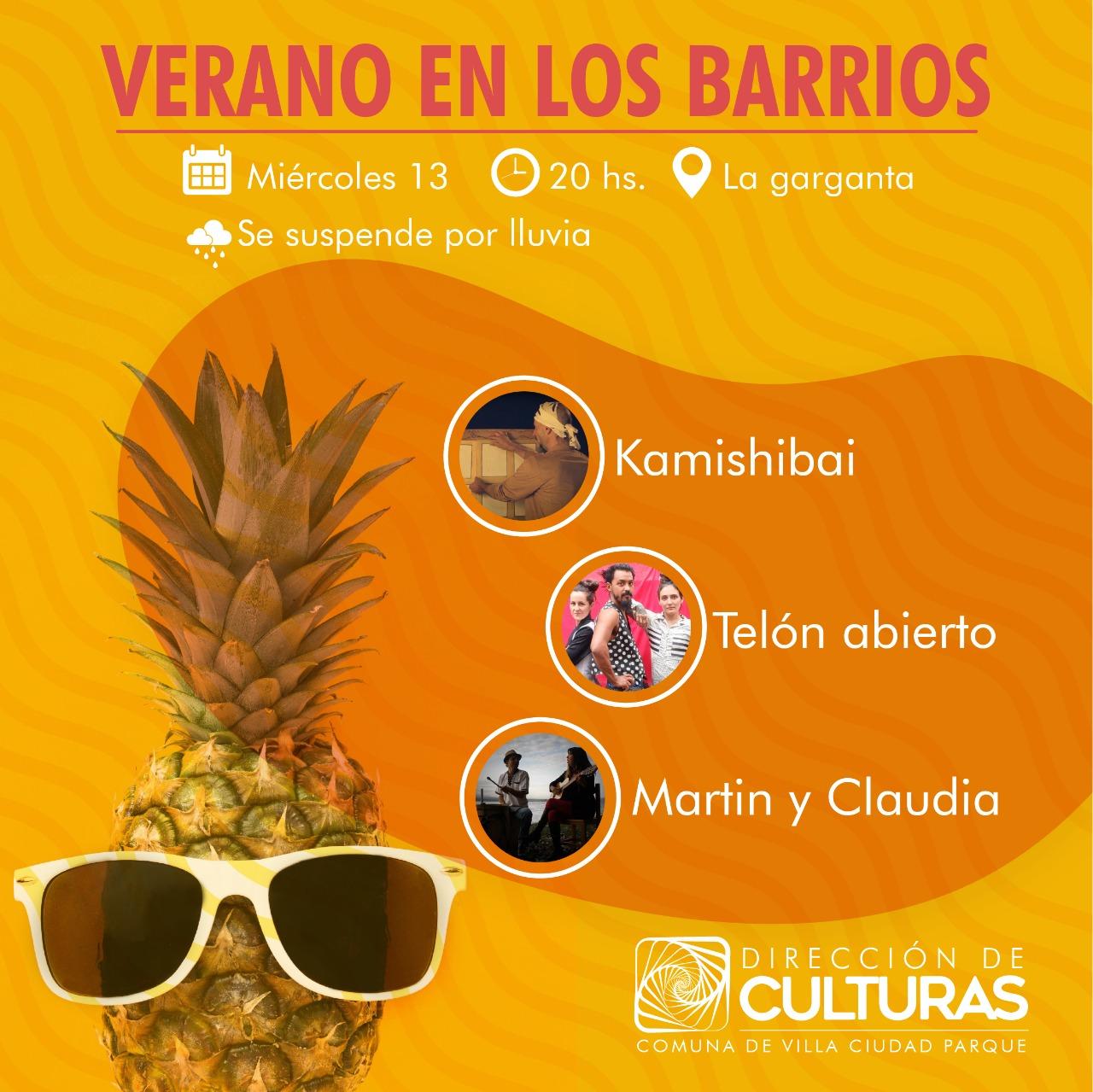 Verano en los barrios: agenda de Villa Ciudad Parque