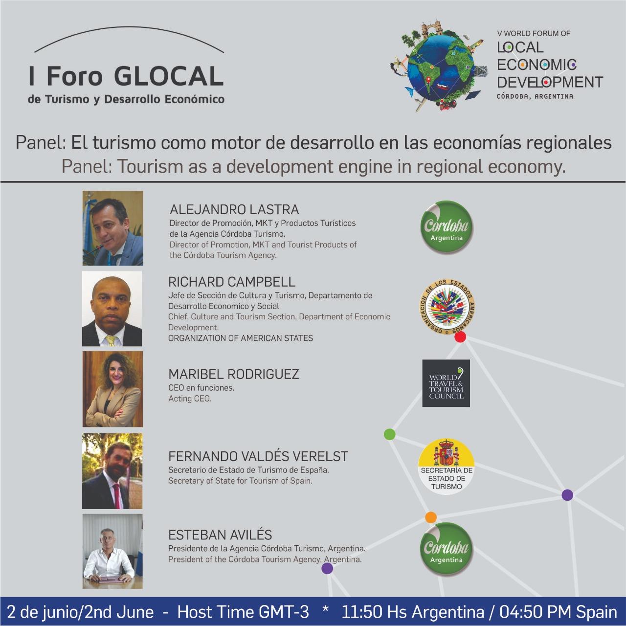 Imperdible: Cuenta regresiva para el I Foro Glocal de Turismo y Desarrollo Económico